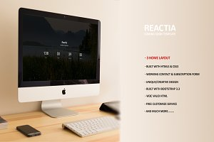Reactia – Coming soon Template