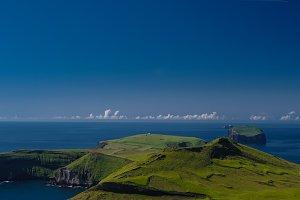 Panorama of Heimaey island, Vestmannaeyjar archipelago Iceland