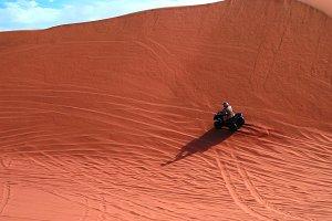 ATV driving at Namib desert, Swakopmund, Namibia
