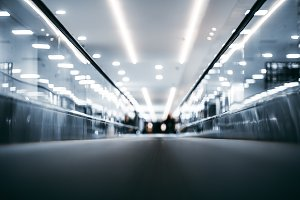 Tralevator, moving walkway, airport
