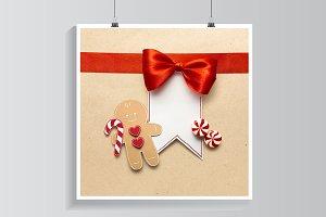 Gingerbread mans smile.