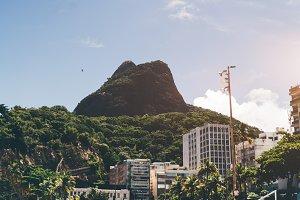 Two Brothers mountain in Rio