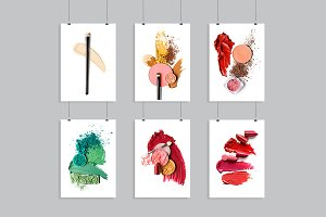 Cosmetic swatch set.