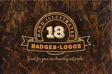 18 Hand Drawn Vintage Badges v.2