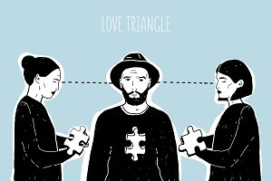 Concept of love triangle