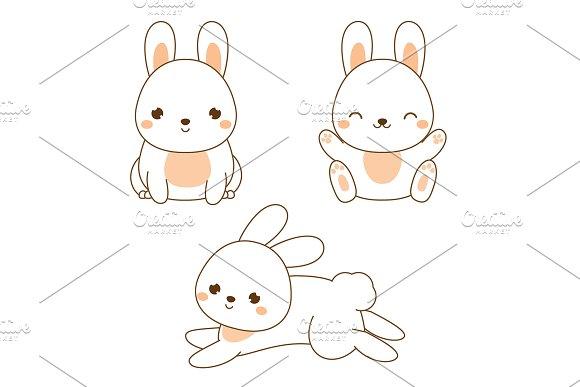 Cute Kawaii Rabbit Bunny Hare