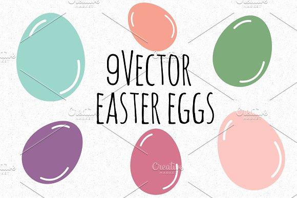 9 Vector Easter Eggs
