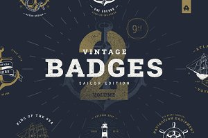 Vintage Badges vol 2
