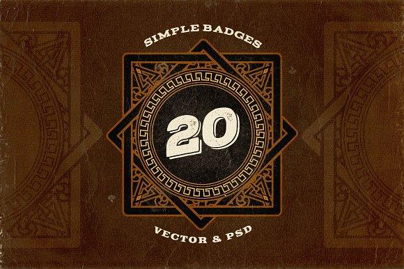 20 Simple Retro Logo Templates v.2 - Logos