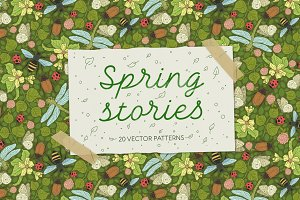 Spring Stories patterns -45% OFF