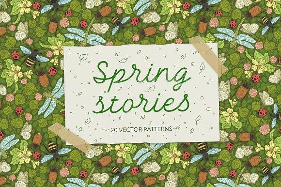 Spring Stories Patterns 40% OFF