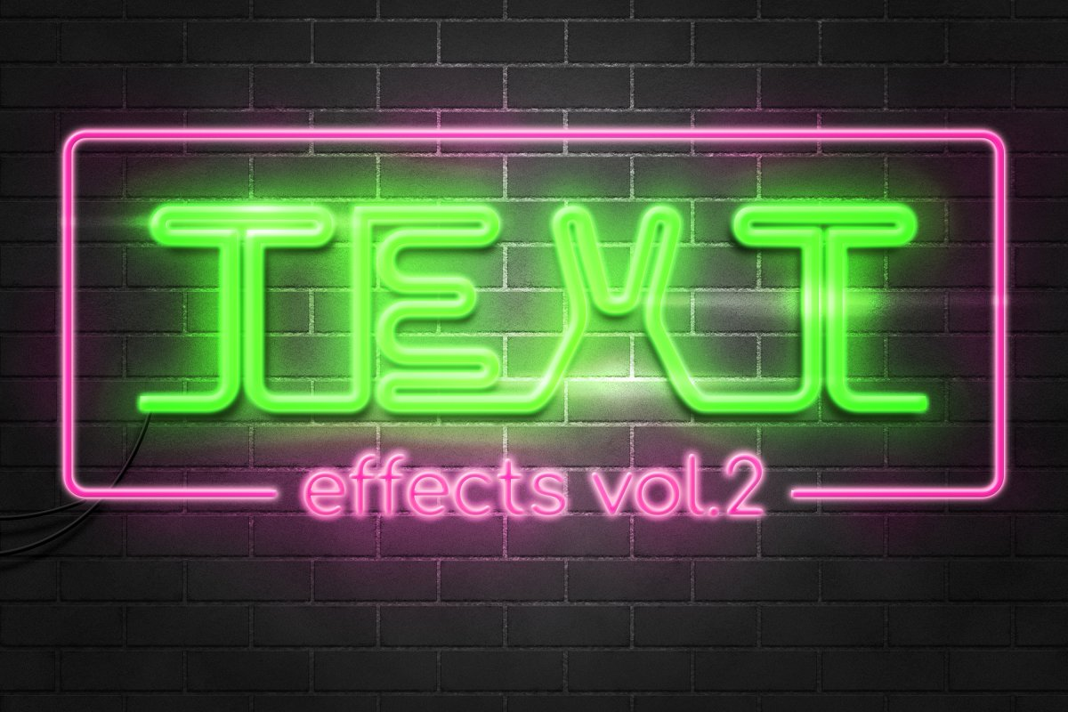 Photoshop Text Effects Pack vol 2 ~ Photoshop Add-Ons ~ Creative Market