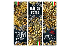 Vector with Italian pasta