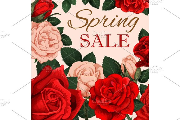 Spring Sale Advertising Poster