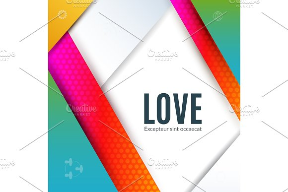 Material Design Of Abstract Vector Design Elements For Graphic Template