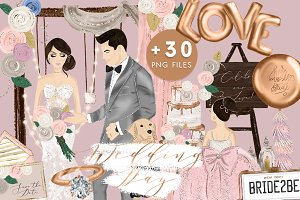 Wedding Day Illustration Clipart