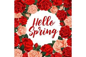 Hallo spring vector poster
