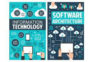 Infographic design of information technology