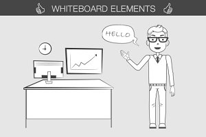 Whiteboard elements kit