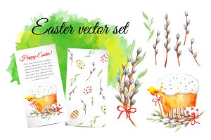 Easter elements and cards