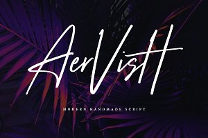 Aervish Typeface