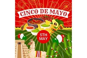 Mexican Cinco de Mayo vector fiesta poster