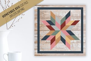 Katie Star Barn Quilt Cut file