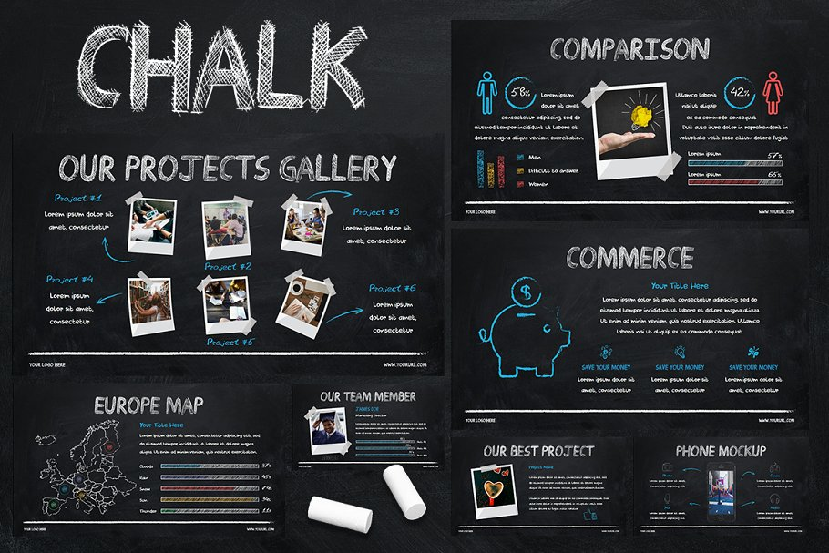 Chalk Powerpoint Template Powerpoint Templates