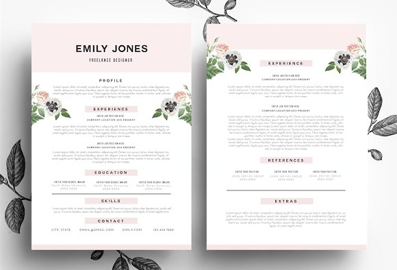 creative cv cover letter psd word resume templates on creative