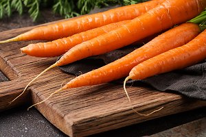 Fresh and sweet carrot