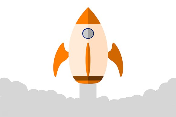 Illustration Of A Rocket Going Up In