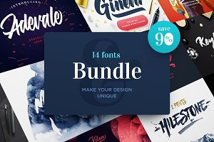 90% OFF. Fonts Bundle.