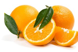 Citrus fruit - oranges with slices.