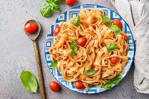 Pasta Fettuccine with tomato sauce