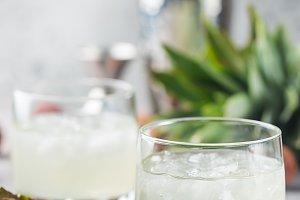 Fresh lychee lemonade