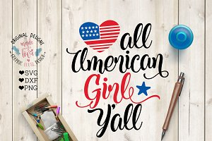 American Girl Y'All Cut File