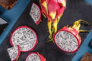 Pitahaya chunk and slice