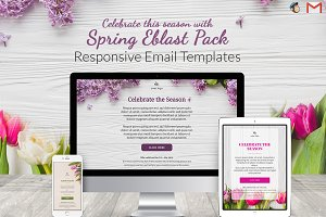 3 Spring Email Templates Pack