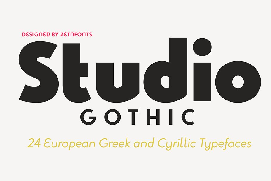 Studio Gothic - 24 fonts ~ Sans Serif Fonts ~ Creative Market