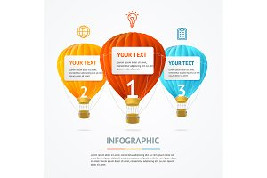 Infographic Hot Air Banner Card
