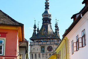 Clock Tower of Sighisoara. Romania