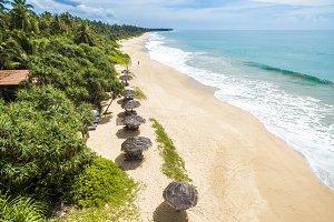 Beauriful deserted summer beach