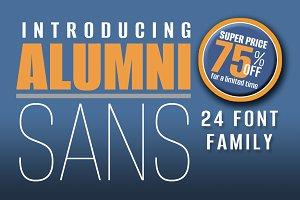 Alumni Sans - 75% OFF 24 Fonts