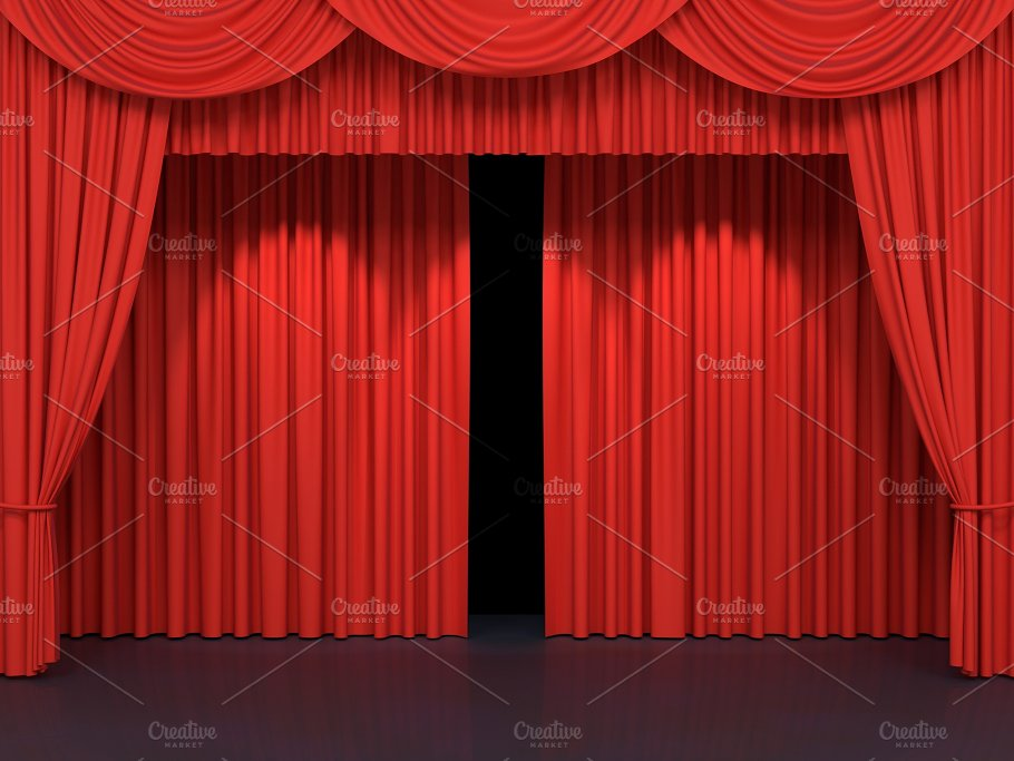 red stage curtains abstract photos creative market