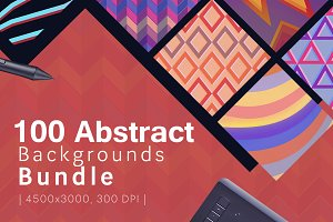 100 Abstract Backgrounds Bundle