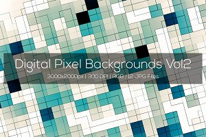 Digital Pixel Backgrounds Vol2