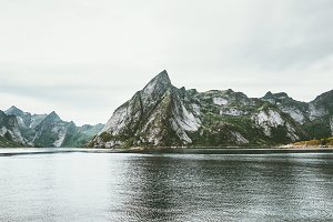 Lofoten islands rocky mountains