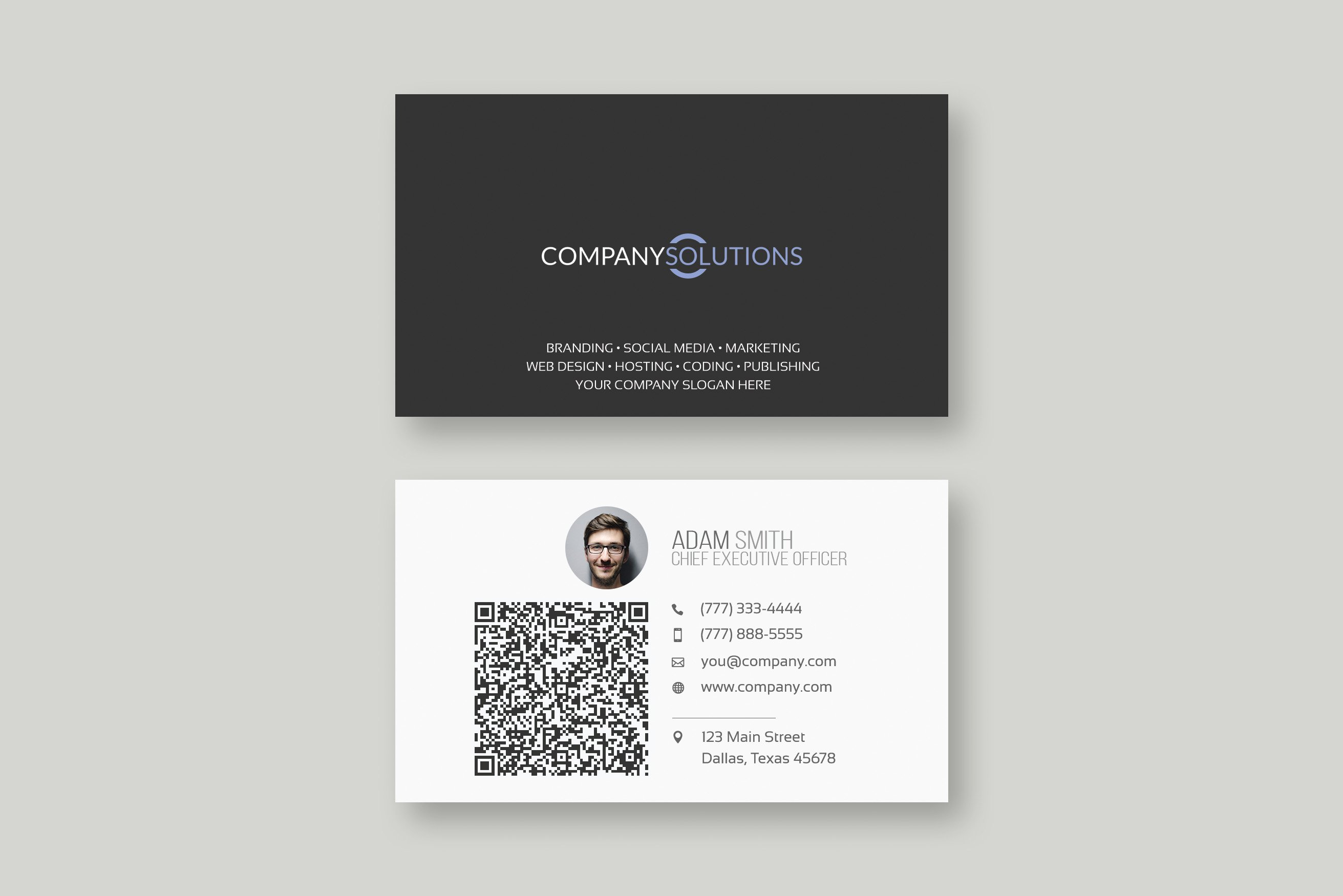 Modern QR Business Card Template ~ Business Card Templates ...