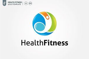 Health Fitness Logo