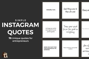 75 Positive Instagram Quotes